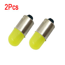 2Pcs BA9S T11 T4W T5 1895 233 Super Bright Round 3D COB LED White Car License Plate Light Auto Interior Door Lamp marker Bulb