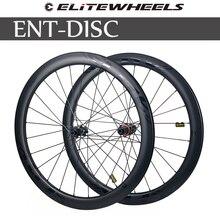 ELITEWHEELS Углеродные колеса дисковый тормоз 700c дорожный велосипед Wheelset ENT качественный углеродный обод с центральным замком или 6-болт для езды...