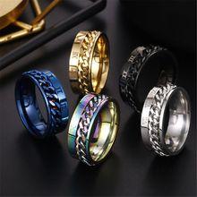 EDC палец Спиннер нержавеющая сталь цепь вращающийся кольцо для мужчин Классический Рим цифровой мощность чувство подарок
