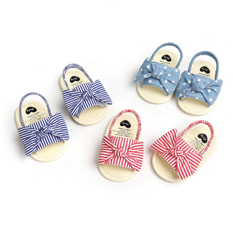Baby Girls Sandals Cute Bow Breathable Anti-Slip Summer Newborn Sandals Toddler Infant Soft Soled First Walkers Shoes 0-18M
