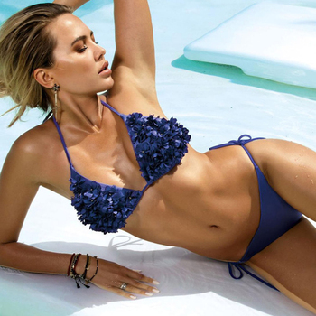 Metallic Fabric Bikini Swimwear 3