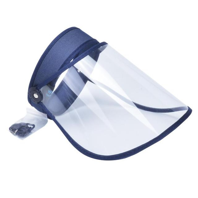 Anti Saliva Face Shield Anti-Fog Adjustable Head Protection Transparent Cover visor hat cap women accessories