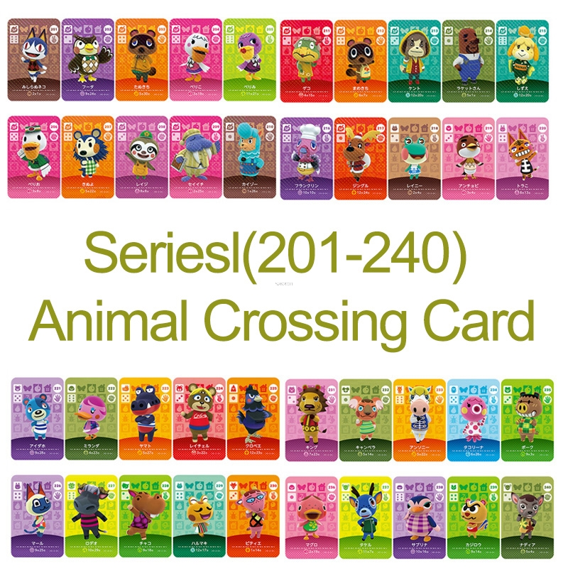 Amiibo Card NS Game Series 3 (201 to 240) Animal Crossing Card Work for image