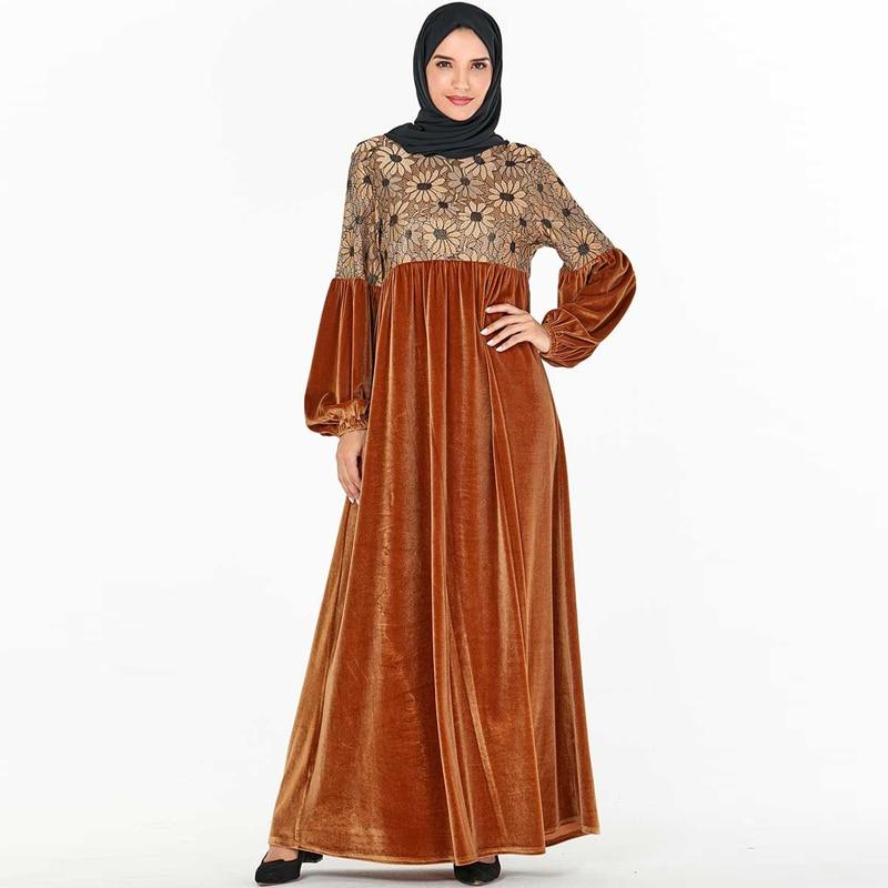 Velvet Abaya Hijab Muslim Dress Turkish Dresses Islamic Clothing Dubai Abayas For Women Caftan Moroccan Kaftan Robe Musulman