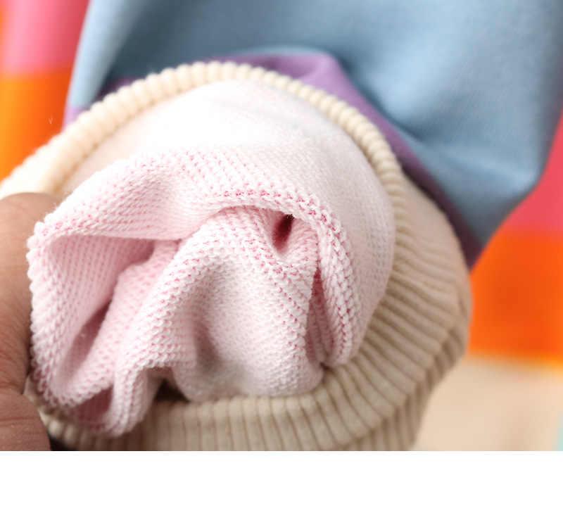 Bông tai kẹp SọC CầU VồNg Khoác Hoodie Nữ Áo Rời Áo Thun Chui Đầu cho Ngọt Bé Gái Pastel FAHION Hồng Quần Áo