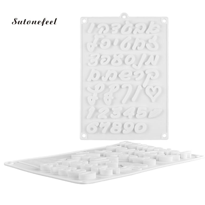 İbranice karakter silikon kalıp çikolata fondan fırın tepsisi arapça numaraları pişirme kalıp formu kek dekorasyon araçları