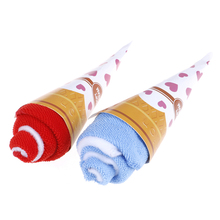 Ice-Cream Towel-Shaped Gift for Wedding Party Random-Color Favor Washing Soft Portable