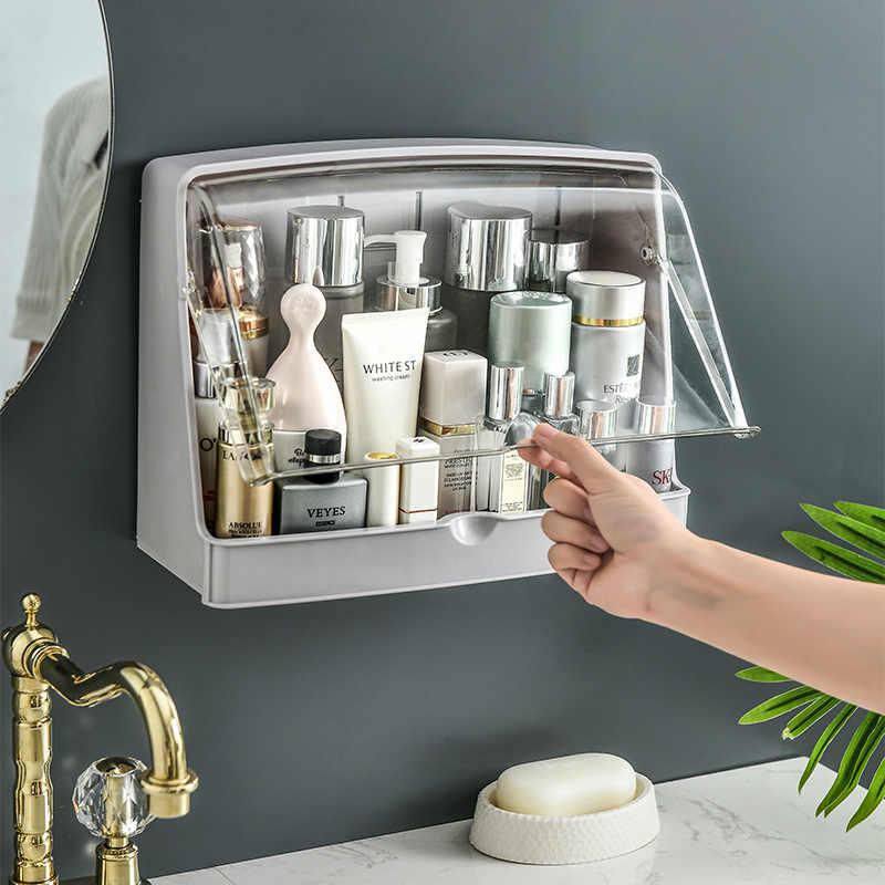 boite de rangement murale pour cosmetiques organisateur de maquillage accessoires de salle de bains supports de cuisine avec couvercle pate