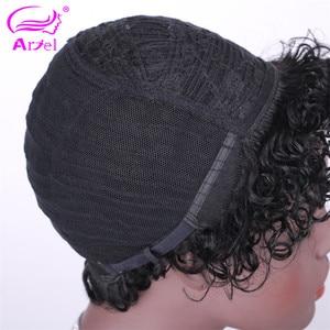 Image 5 - 27# Short Cut Straight Hair Wig Peruvian Remy Human Hair Full Wigs For Black Women F127# 4# 2# Brown Cheap Hair With Bangs Wig