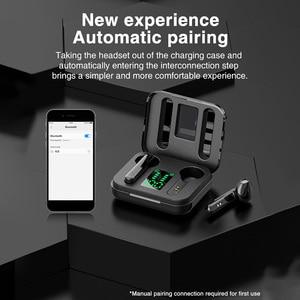 Image 3 - TWS אמיתי אלחוטי אוזניות Binaural סטריאו Bluetooth 5.0 אוזניות אלחוטי אוזניות עם LED תצוגת מקרה הסלולר