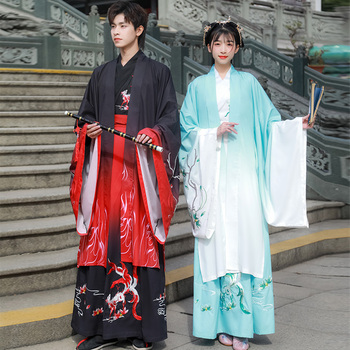Oriental Costumes Adults Ancient Chinese Hanfu Traditional Performance Clothing Women Men Festival Outfit Folk Wear DNV12711