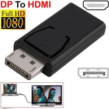 DP a HDMI Max 4K 60Hz adaptador Displayport Cable macho a hembra convertidor DisplayPort a HDMI adaptador para PC TV proyector(China)