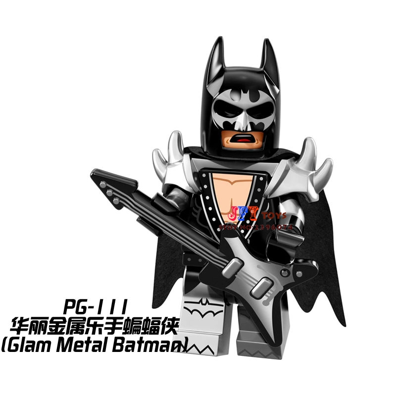 Single Sale Superhero Glam Metal Batman Building Blocks Model Bricks Toys For Children Action Figures