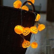 Halloween Pumpkin Led String Lights Accessories Glow Christmas Party Garden Decoration Lanterns Light RaveCM