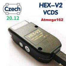 VAG COM 20.12 VAGCOM 21.3 Vag HEX V2 USB Interface FOR VW AUDI Skoda Seat VAG 20.12 Czech English ATMEGA162+16V8+FT232RQ