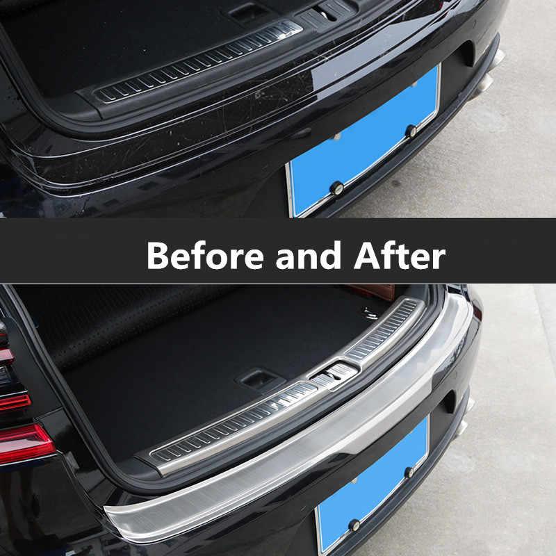 Rear Bumper Sill Plate Trim For Porsche Macan 2014 2015 2016 2017 Stainless
