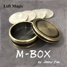 Morgan Size M-BOX by Jimmy Fan Okito Coin Box Coin Magic Tricks Appear Penetrate Magia Magician Close Up Illusions Gimmick Fun