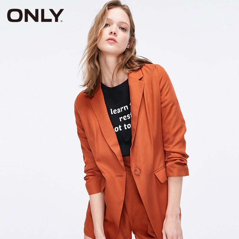 ONLY Women's Spring & Summer One-button 3/4 Sleeves Suit Jacket 119108541