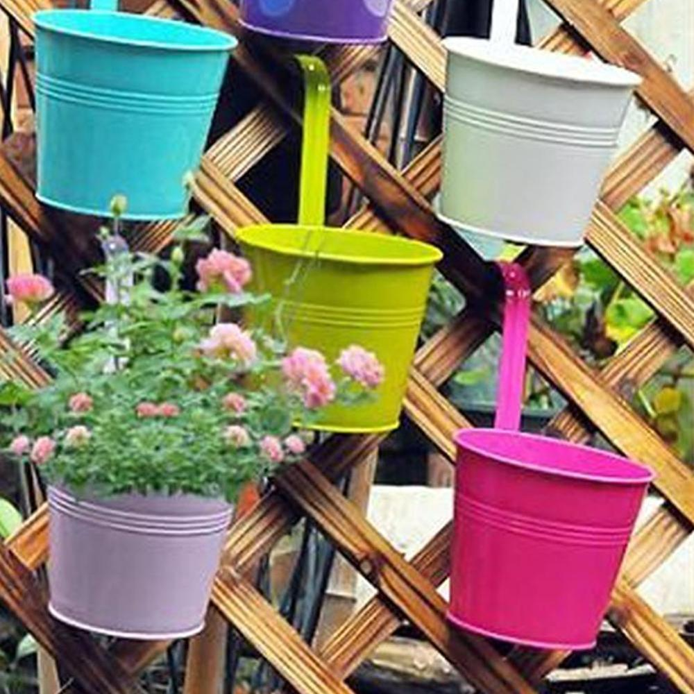 Garden Metal Flower Pots Wall Hanging
