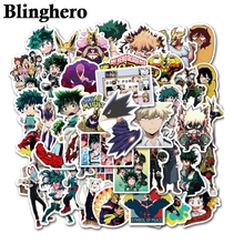 CA946 50pcs Hero Science Anime Stickers Waterproof Skateboard Luggage Suitcase Motorcycle Anime Character Stickers Kids Toys