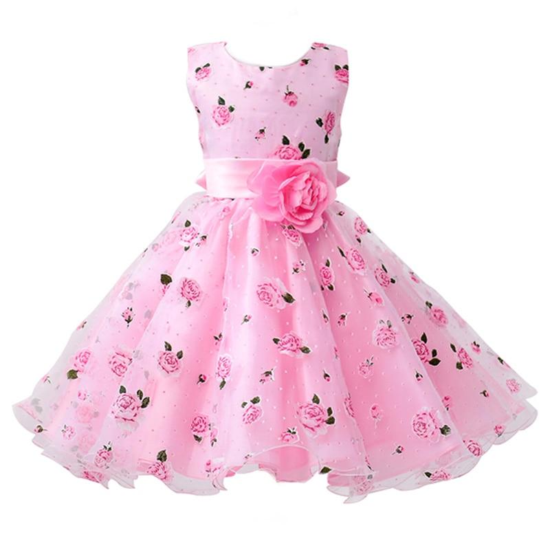 2 Ways Wear Girl Elegant Princess Dress Flower Girl Party Dress For Birthday Kids Girl Ball Gown Wedding Dress 7