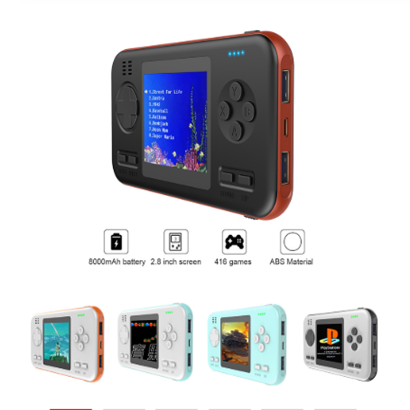 Handheld Gamepad Console Gaming Machine with 8000mAh Power Bank Buil-in 416 Classic Games Game Playing Toys Support Dropshipping image