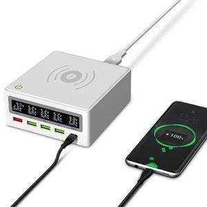 Image 5 - 5 포트 QC3.0 USB 유형 C PD 65W 전원 어댑터 Qi 무선 충전기 핸드폰 빠른 충전기 노트북 휴대 전화 태블릿
