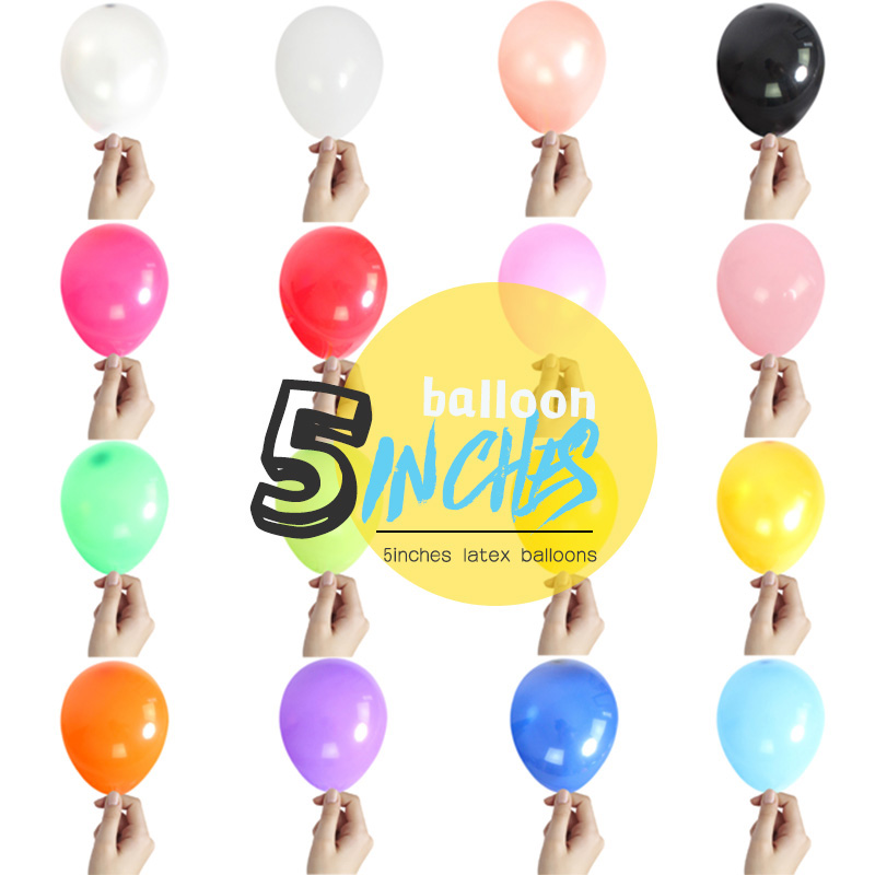 200PCS 5inch 1 2g Air balloons Inflatable Wedding Birthday Party Decoration Kid Baloons Birthday Float Balloon latex round ball in Ballons Accessories from Home Garden