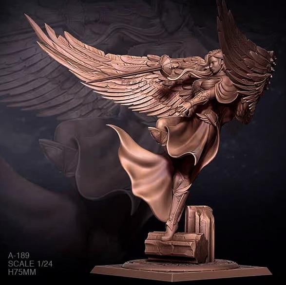 1/24 Resin Figure Kits Angel Swordsman Model Self-assembled A-189