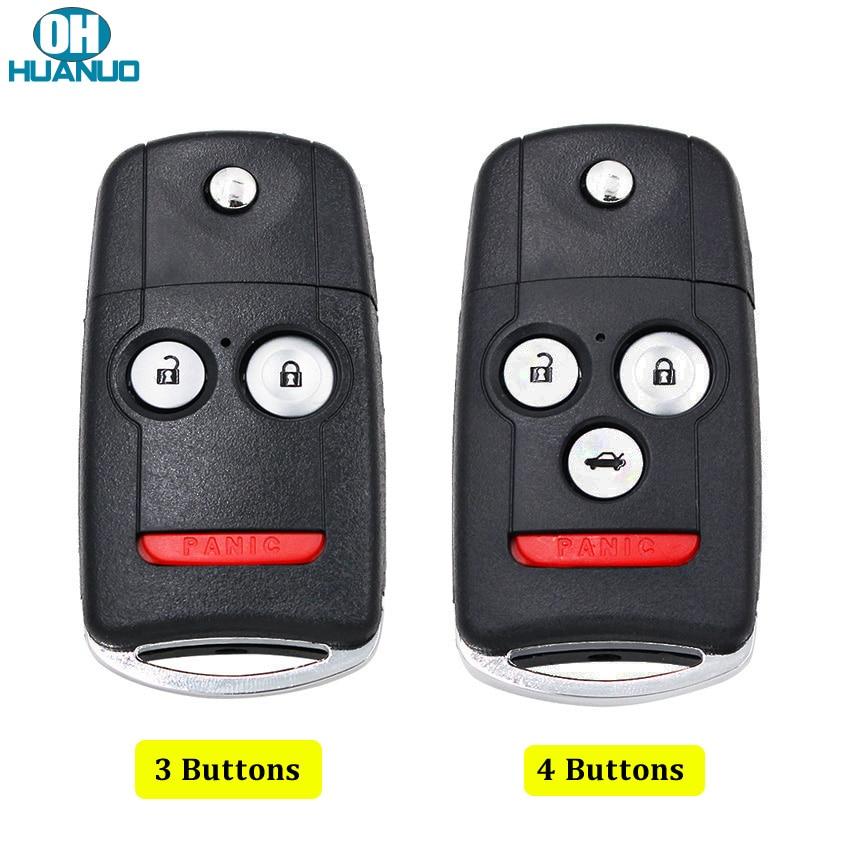 3 + 1 boutons ou 2 + 1 boutons à distance clé coque boîtier Fob pour Acura RDX MDX avec bouton