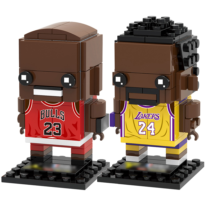 Collection Basketball Sports Star Kobe Bryant Brick Heads Figures Compatible Brickheadz Building Blocks Toys For Kid