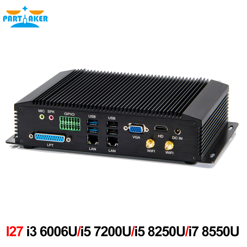 Industrial Mini Pc Intel Core I3 6006U I5 7200U I5 8250U I7 8550U With 6COM RS232 RS422 RS485 HDMI VGA GPIO LPT PS2 Ports