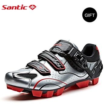 Santic-zapatos De Ciclismo para hombre, Zapatillas transpirables para equipo De carreras