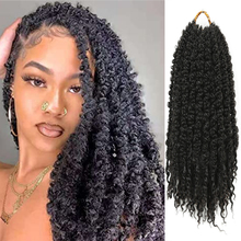 Pre-Twisted Distressed Locs Synthetic Jumbo Crochet Braiding Hair Knotted Butterfly With Curly Ends Pre-Looped Extensions Bulk cheap Golden Beauty Low Temperature Fiber CN(Origin) Marley Braids 10strands pack Pure Color FM Crochet 12inch 6-8packs for a head