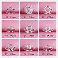 Forma oval ajustável anel base de prata 925 diy jóias fazendo pedra preciosa anel definir encontrar 4*6 moda feminina c