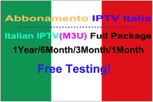 4K HD Abbonamento IPTV Italia For M3U Smart TV 1 Year Italy Live Channels 6000+ Italian Full Package VOD EPG Programme(China)