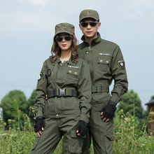 US Army Green Military Uniform Cotton Combat Shirt Cargo Pants Women Tactical Clothing Wear-resistant Fabric Hunter Clothes Men(China)