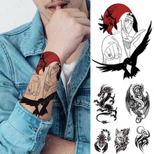 Flash Tattoos Crow Naruto Temporary-Tattoo-Sticker Itachi Waterproof Body-Art-Arm Women