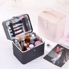 Cosmetic Case Double-Layer Partition Tattoo Embroidery Manicure Tool Storage Box Portable Cosmetics Refrigerator