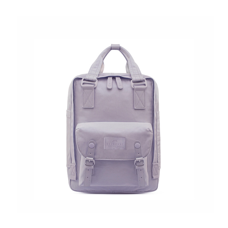 Doughnut Double Shoulder New Solid Color Hand-held Backpack Macaron Student Schoolbag Sports Travel Bag With New Logo