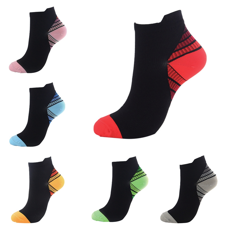 Compression Socks Athletic Medical For Men Women Plantar Fasciitis Arch Support Low Cut Running, Travel Gym Cycling Socks W1