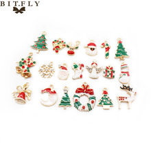 19pcs Mixed Christmas Hanging Ornament DIY Jewellery Necklace Pendant Xmas Christmas Tree Festival