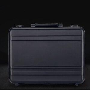 Image 2 - 100% luxo toda a liga de magnésio alumínio caixa de ferramentas de cabeleireiro metal completo caso equipamentos médicos maleta prata