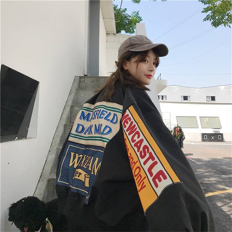 Women Hoodies Spring Harajuku Cool Coat Jacket Hip Hop Jumpers  Loose Long Sleeve Hoodies Sweatshirts Fashion Japan Women