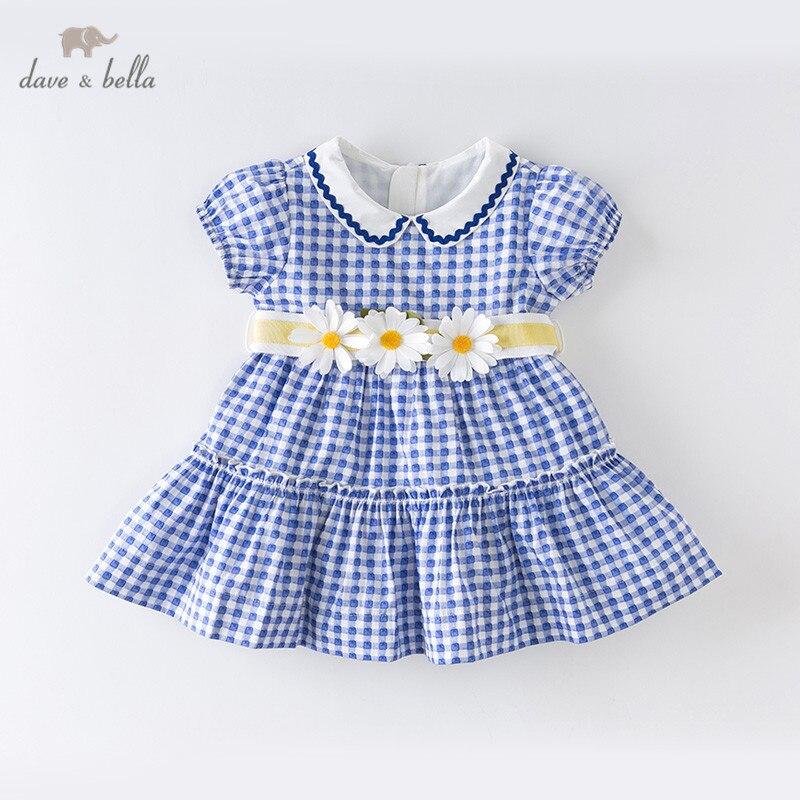 Dave bella/DB13639 летнее клетчатое платье с бантом для маленькой принцессы, модные вечерние платья для девочек, детская одежда в стиле Лолиты|Платья| | АлиЭкспресс
