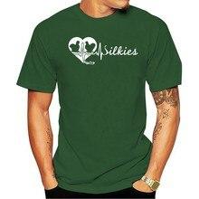 Camiseta camisa masculina t de seda de frango-batimento cardíaco feminino 2021 T-shirt da forma de lazer 100% algodão