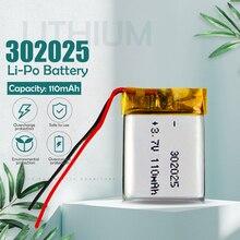 110mAh 3.7V 302025 li polymer Rechargeable battery for GPS PSP MP3 MP4 DVD MP5 toys Bluetooth speaker small li-ion lto battery