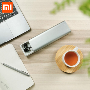 Image 5 - חדש Xiaomi Mijia Miiiw קלמר משרד תלמיד עיפרון מקרי ציוד לבית ספר עט תיבת אלומיניום סגסוגת ABS + PC עבור אפל עיפרון 2