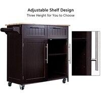 Heavy Duty Utility Modern Rolling Wood Kitchen Cabinet Cart Furniture HW55461
