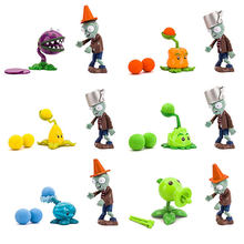 1 Set Plants vs Zombies Action Figure Giocattolo Zombies Girasole Anguria Pisello Sparatutto Juguete Per I Bambini Regalo Di Natale Giocattoli(China)